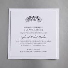 wedding invitations edinburgh tandem bicycle wedding invitation by twenty seven
