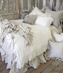 vintage ruffle duvet cover from full bloom cottage paris
