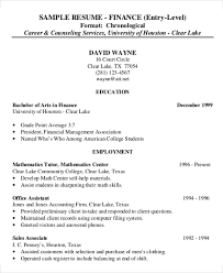 financial resume 25 finance resumes in pdf free premium templates
