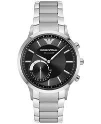 armani bracelet images Emporio armani men 39 s renato stainless steel bracelet hybrid smart tif