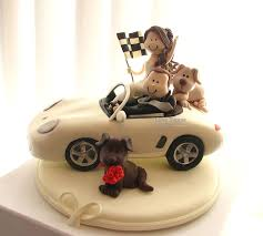 car wedding cake toppers caketopperstudio pets custom wedding cake topper