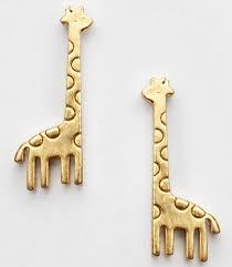 giraffe earrings golden mini giraffe earrings on luulla