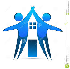 house creative identity card business logo stock vector image