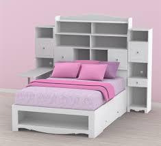 Storage Bed With Headboard Nexera Pixel Bookcase Storage Bed With Desk N 317303set1