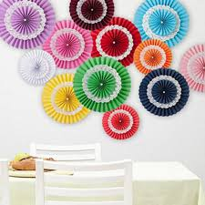 home decor 15cm 3 layer lace paper fan tissue crafts hanging