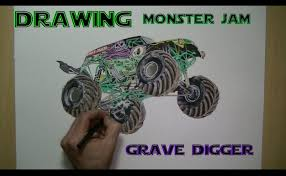 monster truck grave digger video speed drawing monster jam grave digger youtube