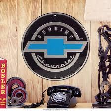 chevrolet genuine bowtie car logo metal sign chevy garage decor
