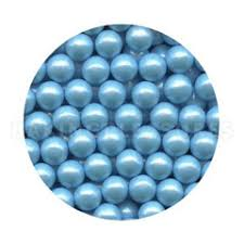 edible pearl edible pearls 7mm light blue