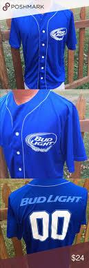 bud light baseball jersey bud light baseball jersey style shirt size small bud light and