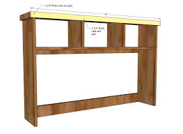 Free Wood Office Desk Plans by Ana White Schoolhouse Desk Hutch Diy Projects
