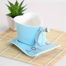 heart shaped mug creative heart shaped ceramic coffee mug cup and saucer tea cup