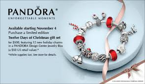 pandora twelve days of christmas gift set promotion be charming blog