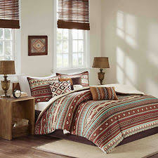 Rustic Comforter Sets 7pc King Size Comforter Set Southwestern Country Rustic Geometric