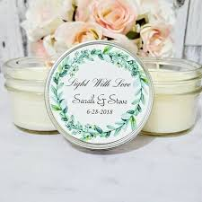 wedding candle favors greenery wedding favor greenery for wedding wedding candle