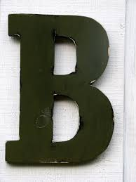 rustic wooden letters home decor rustic letter b