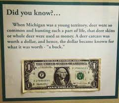 where a buck originated from