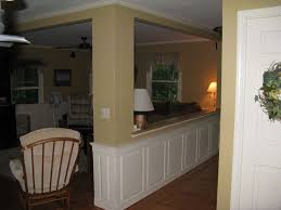 Kitchen Half Wall Ideas Basement Half Walls And Design Columns Ideas Masters Wall Bedroom
