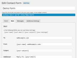 setting up mail contact form 7
