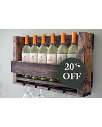 holiday sale sale wine rack rustic modern wine glass holder