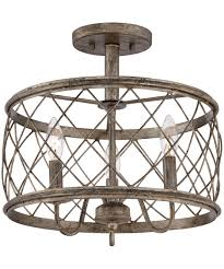 Ceiling Semi Flush Mount Light Fixtures by Quoizel Rdy1714 Dury 15 Inch Wide Semi Flush Mount Capitol