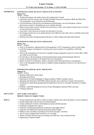 quality assurance resume supplier quality assurance resume resume for study