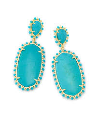 turquoise earrings parsons gold statement earrings in turquoise kendra