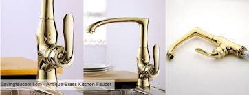 antique brass kitchen faucets brass kitchen faucet