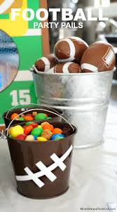 football favors football craft ideas how to make football party pails