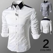 discount new 2014 men casual slim fit stylish mens dress shirt