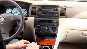 2003 Toyota Corolla Interior Toyota Corolla Car Stereo Removal 2003 To 2008 Youtube