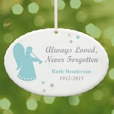 personalized in loving memory glass ornament walmart com