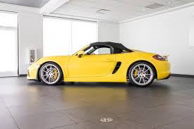 porsche spyder yellow 2016 porsche boxster spyder for sale in colorado springs co p2808