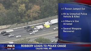 armed robbery in md leads to on beltway 1 killed 4