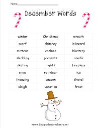 christmas worksheets for second grade worksheets