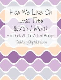 Total Money Makeover Spreadsheet How We Live On Less Than 1500 A Month A Peek At Our Budget