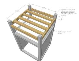 Create A Cart Kitchen Island Ana White How To Small Kitchen Island Prep Cart With Compost