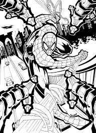 spiderman black white rageloop deviantart