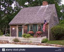 massachusetts cape cod eastham historic salt box house stock photo
