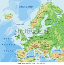 map of n europe vector maps of europe
