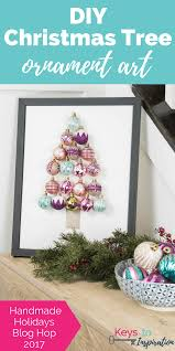 diy christmas tree ornament art keys to inspiration