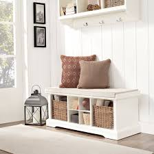 white entryway bench with storage white entryway storage bench