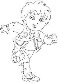 Diego In Good Spirit In Go Diego Go Coloring Page Netart Go Diego Go Coloring Pages