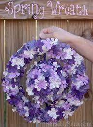 floral springtime wreath craftmonthlove wreaths craft and fabrics