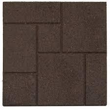 Concrete Patio Blocks 18x18 by Envirotile Cobblestone Earth 18 In X 18 In Rubber Paver