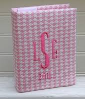monogram photo album monogrammed children s photo albums