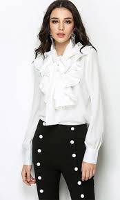 white tie neck blouse for the frill of it sleeve ruffle bow tie neck blouse top 2