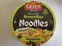 gefen noodles gefen gluten free brown rice noodle bowl vegetable