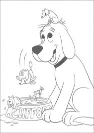 clifford the big red dog coloring page fleasondogs org