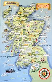 Map Og Map Of Scotland Tea Towels