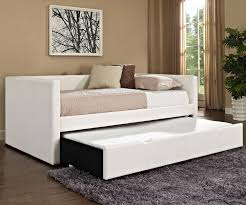 lindsey daybed with trundle in upholstered white 66450 standard